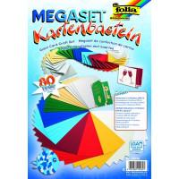 Megaset kuvert in barvnega papirja 80 delov