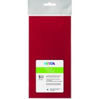 Svileni papir rdeče barve 50x70cm 5 pol