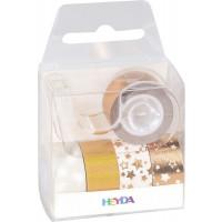Set lepilnih trakov Zvezdice rosegold barve 3mx12mm 5 kosov