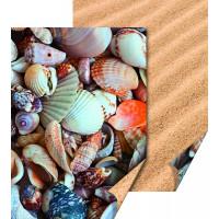 Karton z naravnimi motivi Školjke in pesek 50x70cm 300g/m2 1 kos