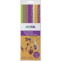 Papirnati trakovi za pletenje Sping vijolična/zelena/rumena 160 kosov
