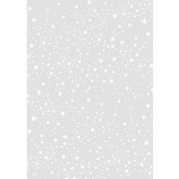 Transparentni papir vzorec drobnih zvezdic A4 1 kos