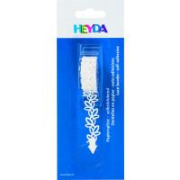 Bela papirnata samolepilna bordura Listki 14mmx2m
