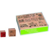 Štampiljke lesene - Božič, 11 kosov