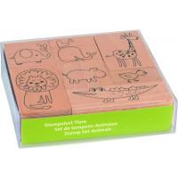Štampiljke lesene Živali 7 kosov