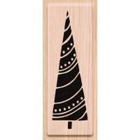 Lesena štampiljka Smrečica z girlando 1 kos