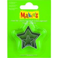 Kovinski modelčki za izrezovanje, 3 kosi 3 različne velikosti - Zvezdice