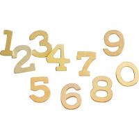 Lesena številka mala 0-9 cca 4x3cm 1 kos