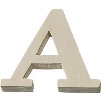 Lesena črka A-Z mala 4x3,5cm 1 kos-A