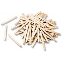 Lesene palčke 50 kosov naravne barve