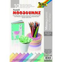 Moos gumi pastelni barvni miks 20x29 cm 10 kosov