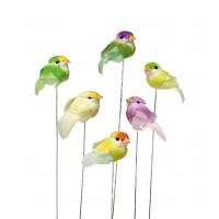 Pomladni ptiček za dekoracijo velikost 2cm 1 kos