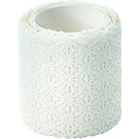 Washi dekor lepilni trak Flowers White 5mx50mm