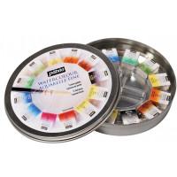 Set akvarelnih barv 12 odtenkov v kovinski dozi + čopič