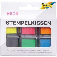 Blazinice za štampiljke Neon 6 kosov