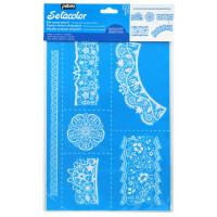 Setacolor šablona za tekstil - Čipke A4 format