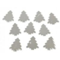 Lesene smrečice srebrne 10 kosov