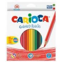 Barvice Colored pencils klasične tanke 24 kosov