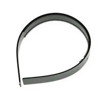 Obroč za lase plastičen črn, 2 cm, 1 kos