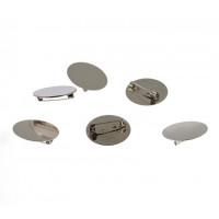 Sponke za broške okrogle s ploščico 30mm 6 kosov