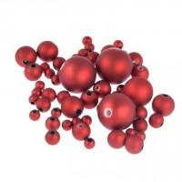 Akrilne perle mat rdeče barve 5-20mm 30g