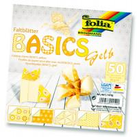 Origami papir basics 15x15 cm, različne barve, 50 listov