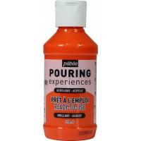 POURING experiences akrilna barva 118ml -Oranžna