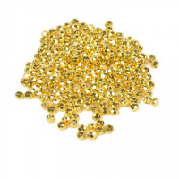 Perle plastične kovinski izgled Disko okrogle 6mm 40g