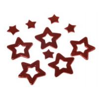 Lesene zvezdice z izrezom 10 kos