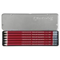 Komplet grafitnih svinčnikov 9B, 6B, 4B, 2B, HB, 2H 6 kosov v kovinski embalaži