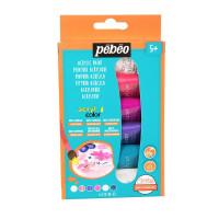 Set svetlečih akrilnih barv Acrylcolor z bleščicami 6x20ml