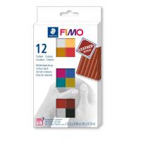 Komplet polimerne mase Fimo Leather 12x25g