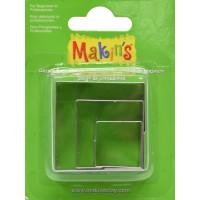Kovinski modelčki za izrezovanje, 3 kosi 3 različne velikosti - Kvadrati