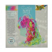 Curly dekorativni krep papir 60 barvni miks