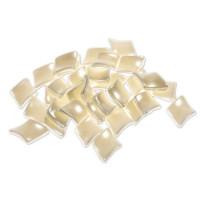 Perle akrilne bele - rombi, 20 g
