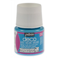 Dekorativne akrilne barve s svetlečim učinkom P. Bo Deco, 45 ml