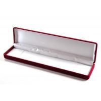 Darilna žametna škatlica rdeče barve 6x24 cm