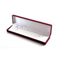 Darilna žametna škatlica rdeče barve 5x20 cm