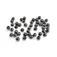 Perle PVC kovinski izgled, okrogle, črne barve 12mm 40g