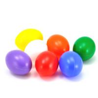Barvna plastična jajca 6cm 1 kos