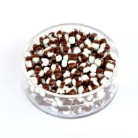 Perle dvobarvne rjave 4,5mm 17g