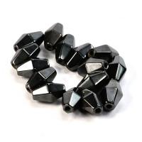 Perle magnetne 9x16mm črne barve 15/1
