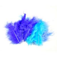 Barvno perje 20 kosov Modri miks