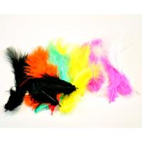 Barvno perje 20 kosov miks