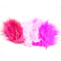 Barvno perje 20 kosov Roza miks