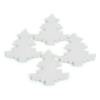Novoletni okraski, smrečice, bele, 4 kos