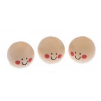 Vatne kroglice z obrazom, kožne barve, 2,5 cm, 3 kos