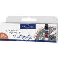Kaligrafski komplet Pitt Artist Pen 4 kosi Faber-Castell