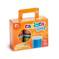 Prstne barve Carioca Baby set 6x80ml