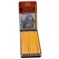 Set grafitnih svinčnikov za risanje in senčenje 12 kosov Koh-I-Noor